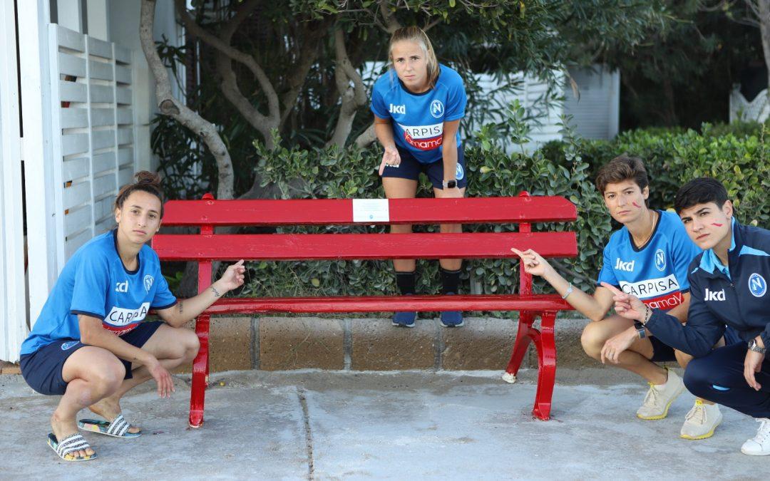 Una panchina per dire #StopAllaViolenzaSulleDonne