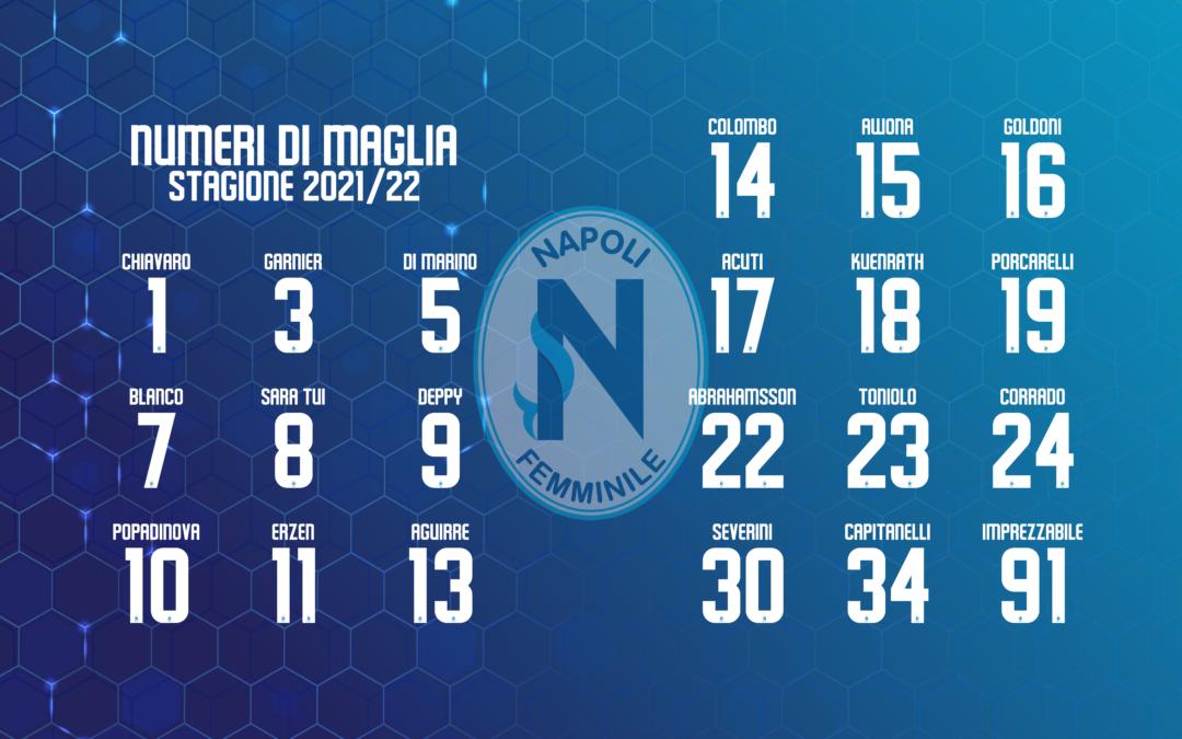 Ufficiali i numeri di maglia per la stagione 2021/22
