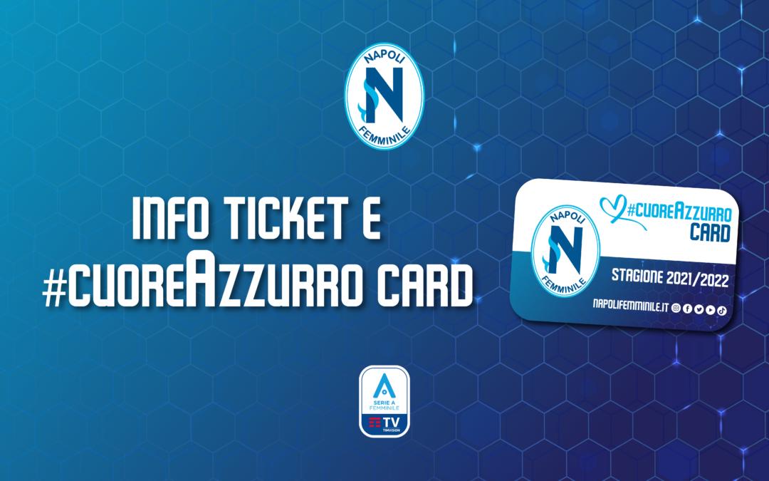 Vendita biglietti e #cuoreAzzurro Card