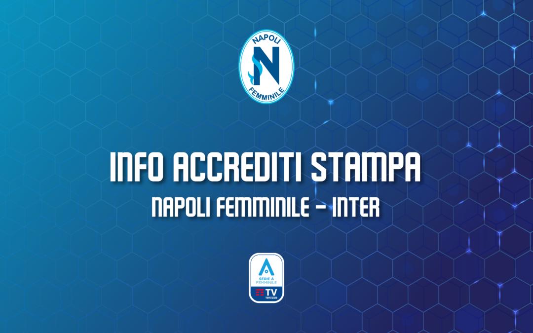 Avviso accrediti stampa Napoli Femminile – Inter