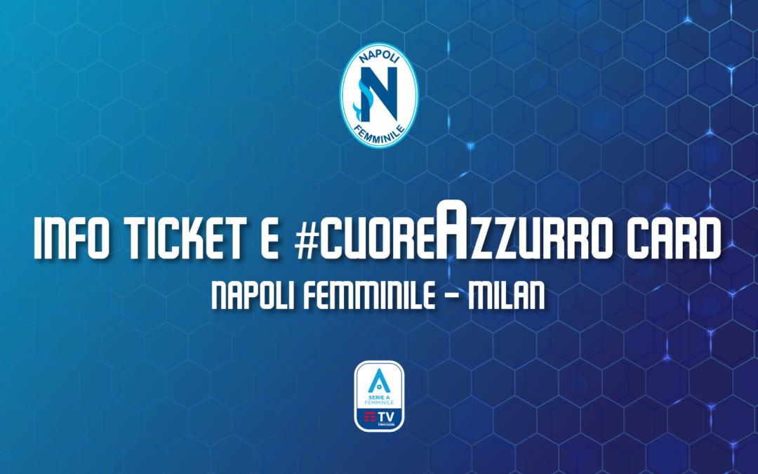 Vendita biglietti e #cuoreAzzurro Card per Napoli Femminile – Milan