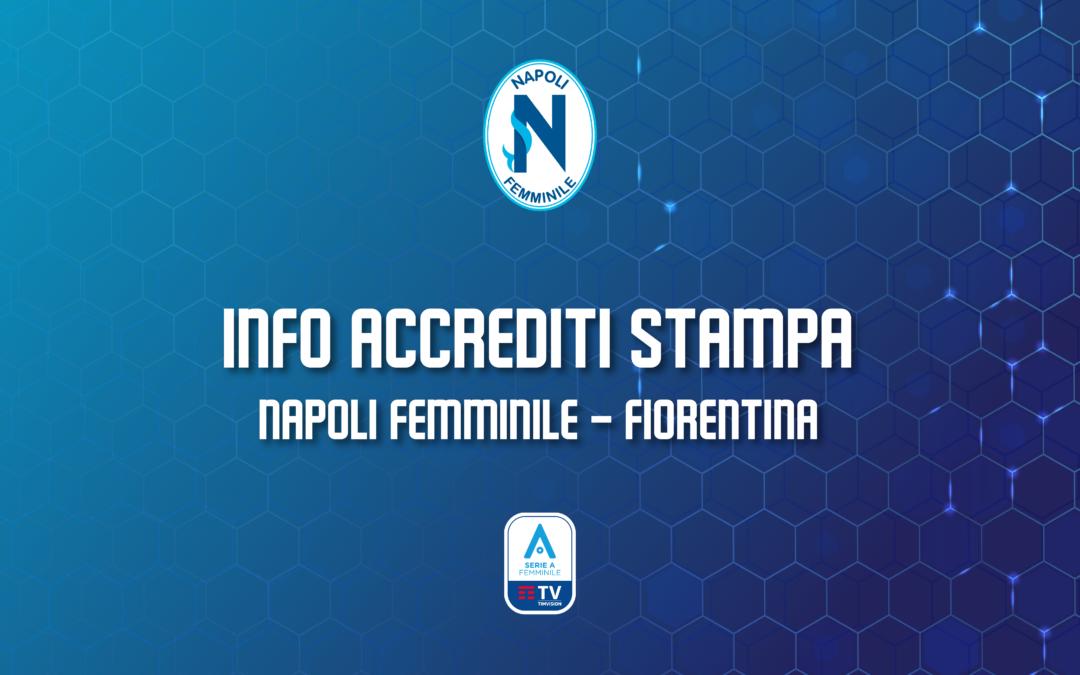 Avviso accrediti stampa Napoli Femminile – Fiorentina