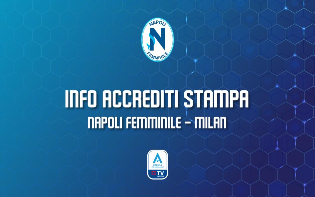 Avviso accrediti stampa Napoli Femminile – Milan