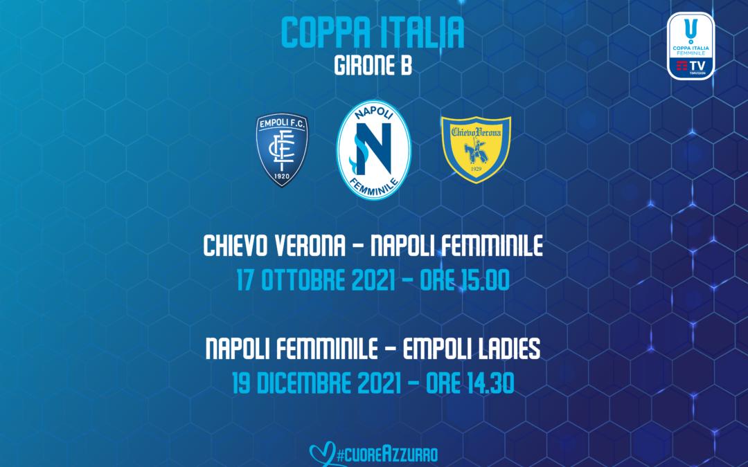 Napoli Femminile sorteggiato nel Girone B di Coppa Italia con Chievo ed Empoli